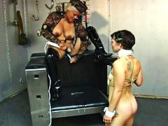 PornerBros - Obedient slave chick knows how to please her mistress