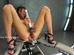 Huge electric toy penetrates ass rele...