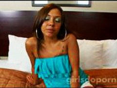 Ethnic teen amateur gets fucked and a...