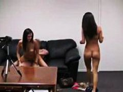 Casting couch porn threesome with sluts