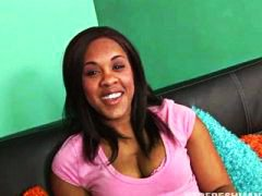 Keez Movies - black chick Candy fucking her interviewer really hard