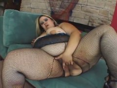 PornerBros - Blonde bbw sucks his cock and bends over to get porked