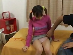 Nuvid - Japanese teen Yui Aizawa lets an older man squeeze a finger in her pussy