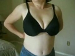 Tube8 - MarieRocks 50 Plus MILF  Big Tits Topless in Jeans