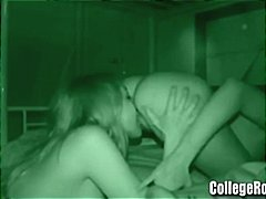 Nuvid - Two amateur lesbians eating pussy and then a hot teen foursome