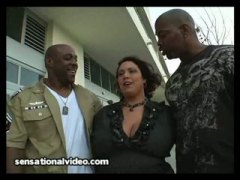 Big Tit Latina Wife Fucks 2 Big Black...