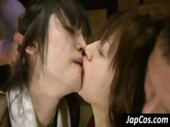 DrTuber - Japanese girls get tied up and lick pussies in this BDSM clip