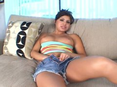 Latina babe in hot threesome sex
