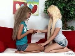 Tube8 - Lesbians suck and fondle one anothers small tits and erect nipples