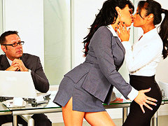 Keez Movies - Pornstars Kaylani & Tori Black - hot lesbians in office threesome