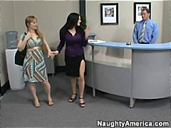 Boss's wife catches staff fucking