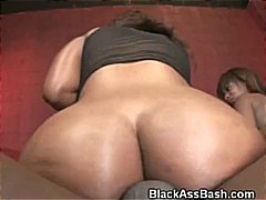 DrTuber - Black Girls With Big Asses Banged In A Threesome