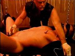 DrTuber - Simultaneous sounding plus electro stim on hot young muscle stud.