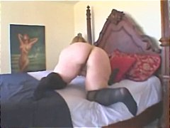 Nuvid - Chubby blonde Monique gets a black cock drilling her from behind