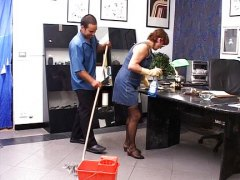 Janitors fucking in the bosses office