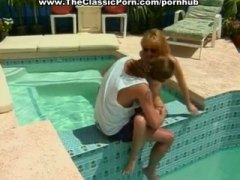 PornHub - Crazy 1980s porn fucking by the pool