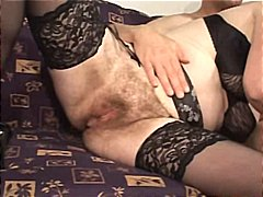 Sexy blonde MILF gets fingered while ...