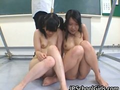 Asian female students getting punished part2