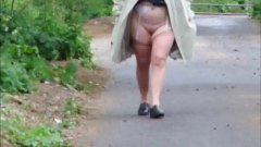 wife walking without panties or skirt