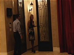 Nuvid - Busty blonde MILF has always had the hots for her neighbor and she fucks him