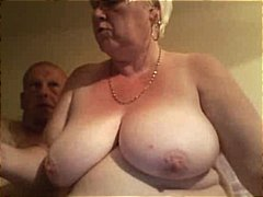 Nuvid - Fat old blonde amateur granny spreads her plump pussy wide an gets nailed by hubby