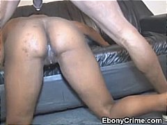 Black Girl Takes Rough Pussy Pounding...