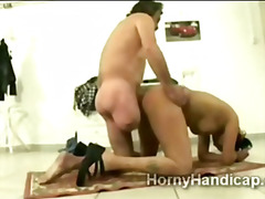 Fat ugly stupid whore gets fucked by ...