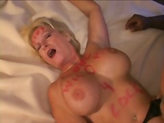 Busty mature blonde is a big black co...
