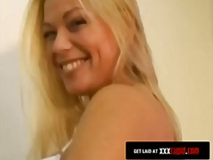 Blonde Rubs Pussy in the Office