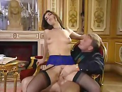 Milf in stockings riding cock