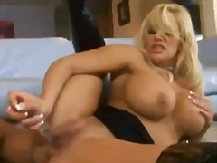 Blonde lesbians fucking in hall