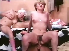 Retro group fuck with great oral too