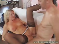 Keez Movies - Hubby enjoyed watching his blonde wife on a live sex with a porns