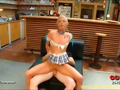 German blonde lucie eats ass and take...