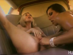 Busty Brianna licking and inserting d...
