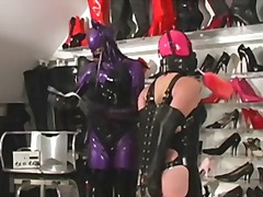 Cleaning mistress dressing shoes