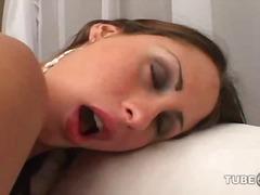 Big breasted brunette ts fucked & cre...