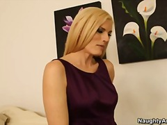 Small tit milf darryl hanah helps sons friend relieve stress by fucking him