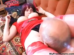 Nora and grandpa love oral sex
