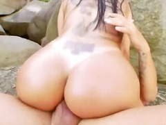 Deep anal outdoor sex with whore