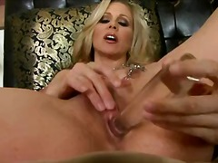 Alluring blonde milf with an amazing