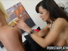 Lisa ann lesbian action with hot blonde
