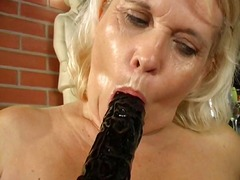 Lesbian grannies licking each other (...