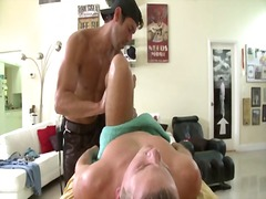 Straight guy gets hard and horny at g...