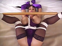 Hot chicks tied up and made to cum