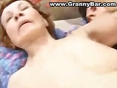 Mature fucked hard by her grandson real