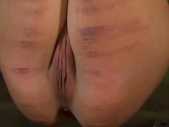 Ah-Me - Stormy caning for lusty chick