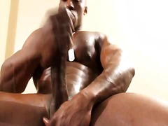Gay stroking of cock for personal use...