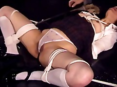 Flogging & candling an asian pussy
