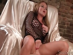 Alpha Porno - Big tits and high heels on sexy solo girl